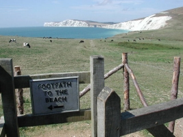 Freshwater bay from Compton in the West Wight